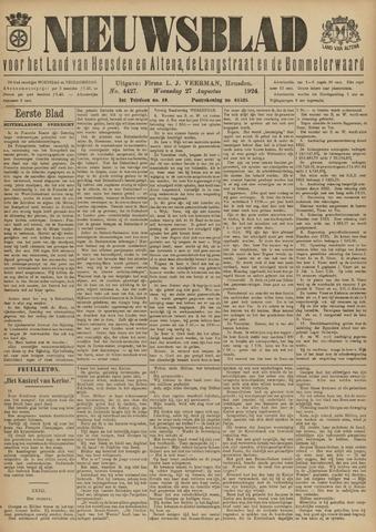 Nieuwsblad het land van Heusden en Altena de Langstraat en de Bommelerwaard 1924-08-27