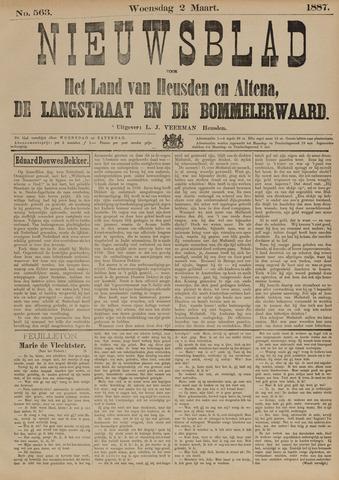 Nieuwsblad het land van Heusden en Altena de Langstraat en de Bommelerwaard 1887-03-02