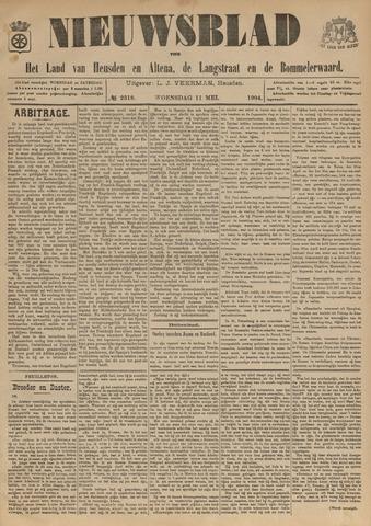 Nieuwsblad het land van Heusden en Altena de Langstraat en de Bommelerwaard 1904-05-11