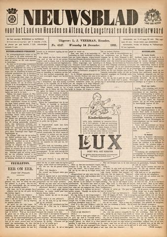 Nieuwsblad het land van Heusden en Altena de Langstraat en de Bommelerwaard 1921-12-14