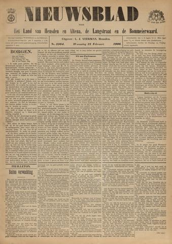 Nieuwsblad het land van Heusden en Altena de Langstraat en de Bommelerwaard 1906-02-21