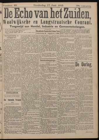 Echo van het Zuiden 1915-06-17