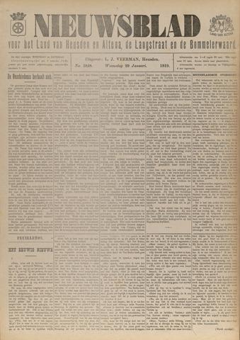 Nieuwsblad het land van Heusden en Altena de Langstraat en de Bommelerwaard 1919-01-29