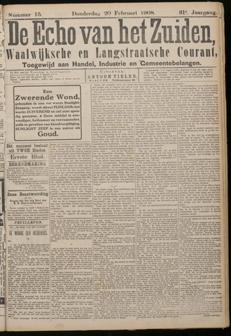 Echo van het Zuiden 1908-02-20