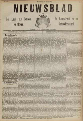 Nieuwsblad het land van Heusden en Altena de Langstraat en de Bommelerwaard 1891-06-24