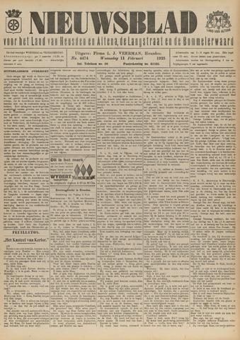 Nieuwsblad het land van Heusden en Altena de Langstraat en de Bommelerwaard 1925-02-11