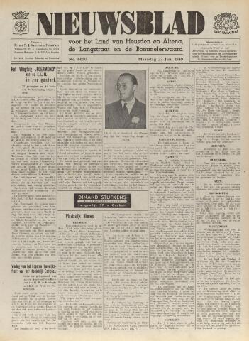 Nieuwsblad het land van Heusden en Altena de Langstraat en de Bommelerwaard 1949-06-27
