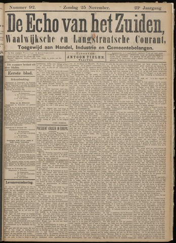 Echo van het Zuiden 1900-11-25