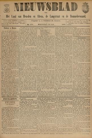 Nieuwsblad het land van Heusden en Altena de Langstraat en de Bommelerwaard 1895-01-23