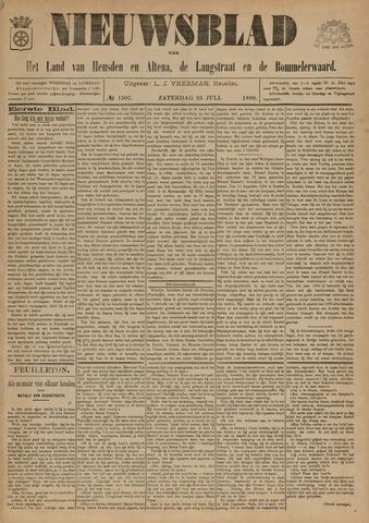 Nieuwsblad het land van Heusden en Altena de Langstraat en de Bommelerwaard 1896-07-25