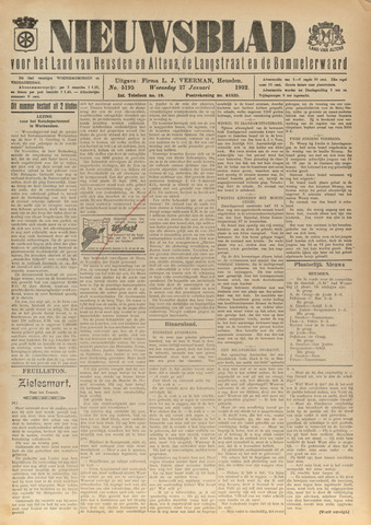 Nieuwsblad het land van Heusden en Altena de Langstraat en de Bommelerwaard 1932-01-27