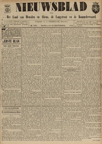 Nieuwsblad het land van Heusden en Altena de Langstraat en de Bommelerwaard 1893-09-23