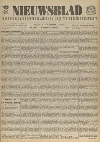 Nieuwsblad het land van Heusden en Altena de Langstraat en de Bommelerwaard 1920-10-20