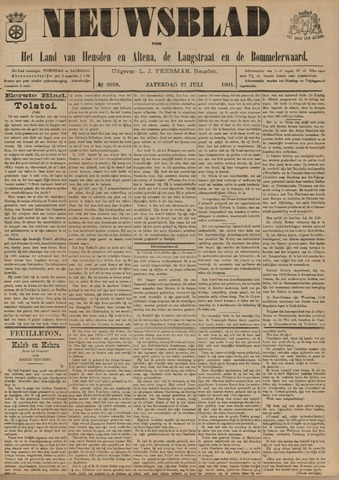 Nieuwsblad het land van Heusden en Altena de Langstraat en de Bommelerwaard 1901-07-27