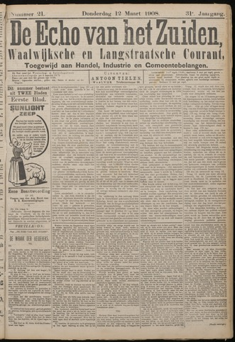 Echo van het Zuiden 1908-03-12