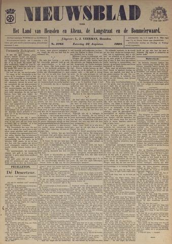 Nieuwsblad het land van Heusden en Altena de Langstraat en de Bommelerwaard 1908-08-22