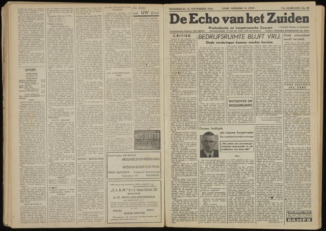 Echo van het Zuiden 1948-11-25