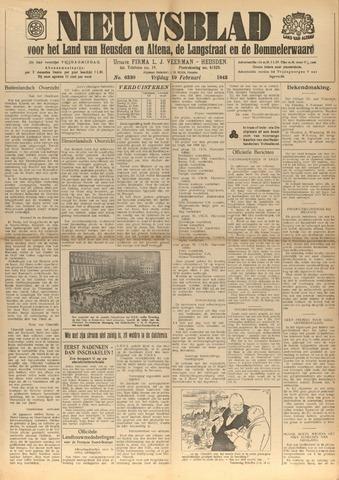 Nieuwsblad het land van Heusden en Altena de Langstraat en de Bommelerwaard 1943-02-19