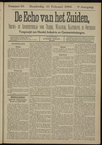 Echo van het Zuiden 1886-02-25