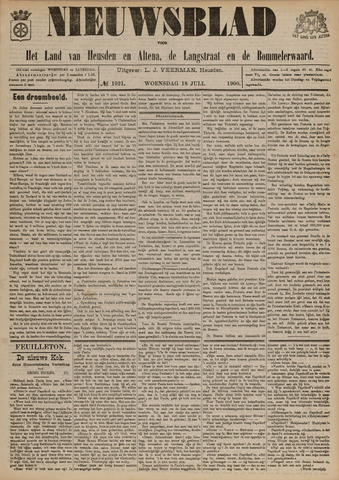 Nieuwsblad het land van Heusden en Altena de Langstraat en de Bommelerwaard 1900-07-18