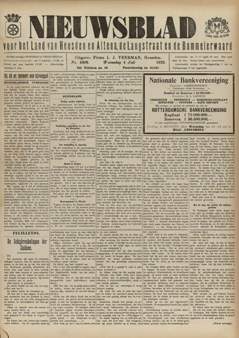 Nieuwsblad het land van Heusden en Altena de Langstraat en de Bommelerwaard 1923-07-04