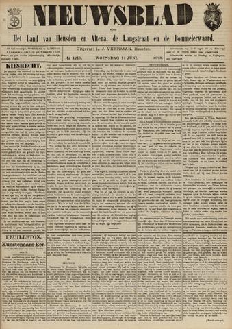 Nieuwsblad het land van Heusden en Altena de Langstraat en de Bommelerwaard 1893-06-14