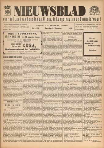 Nieuwsblad het land van Heusden en Altena de Langstraat en de Bommelerwaard 1921-11-05