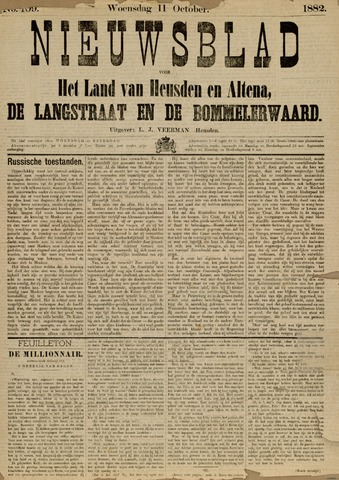 Nieuwsblad het land van Heusden en Altena de Langstraat en de Bommelerwaard 1882-10-11
