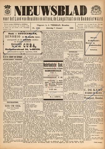 Nieuwsblad het land van Heusden en Altena de Langstraat en de Bommelerwaard 1922-01-07