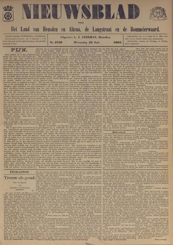 Nieuwsblad het land van Heusden en Altena de Langstraat en de Bommelerwaard 1908-07-22