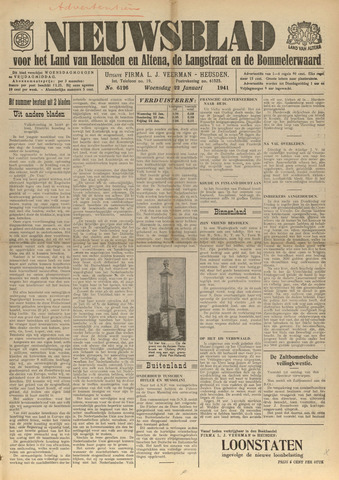 Nieuwsblad het land van Heusden en Altena de Langstraat en de Bommelerwaard 1941-01-22