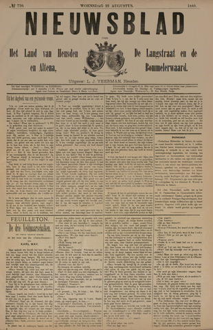 Nieuwsblad het land van Heusden en Altena de Langstraat en de Bommelerwaard 1888-08-22