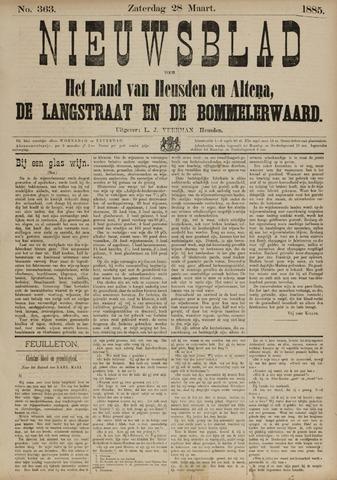 Nieuwsblad het land van Heusden en Altena de Langstraat en de Bommelerwaard 1885-03-28