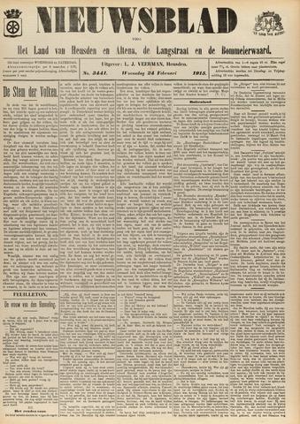 Nieuwsblad het land van Heusden en Altena de Langstraat en de Bommelerwaard 1915-02-24