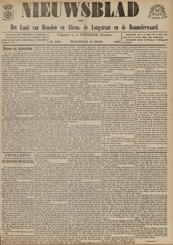 Nieuwsblad het land van Heusden en Altena de Langstraat en de Bommelerwaard 1902-02-19