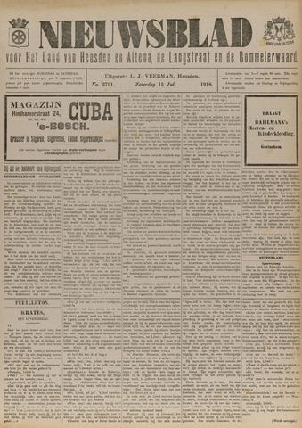 Nieuwsblad het land van Heusden en Altena de Langstraat en de Bommelerwaard 1918-07-13