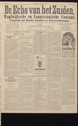 Echo van het Zuiden 1938-08-13
