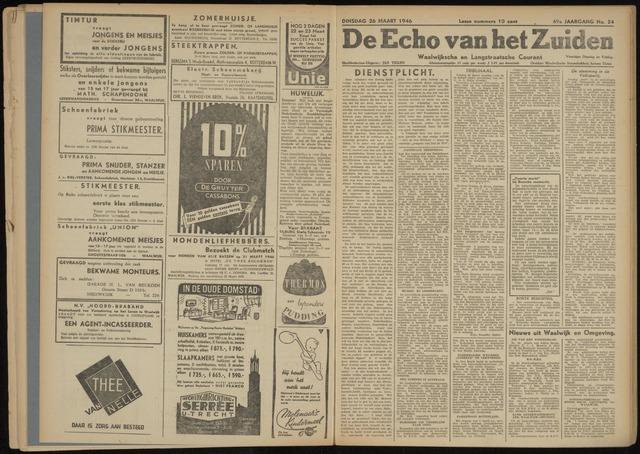 Echo van het Zuiden 1946-03-26