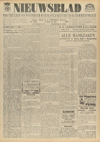 Nieuwsblad het land van Heusden en Altena de Langstraat en de Bommelerwaard 1928-05-18
