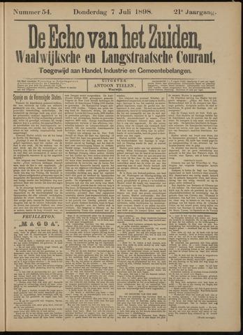 Echo van het Zuiden 1898-07-07