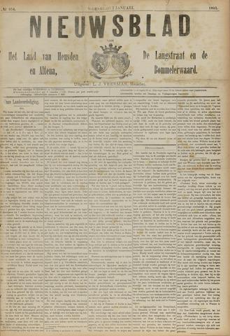 Nieuwsblad het land van Heusden en Altena de Langstraat en de Bommelerwaard 1891-01-07