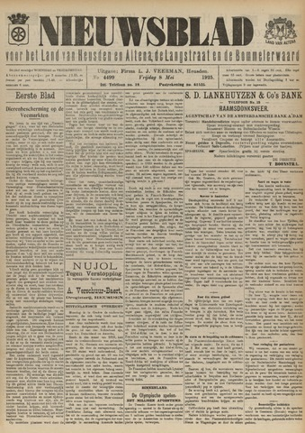 Nieuwsblad het land van Heusden en Altena de Langstraat en de Bommelerwaard 1925-05-08