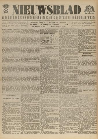 Nieuwsblad het land van Heusden en Altena de Langstraat en de Bommelerwaard 1924-11-12