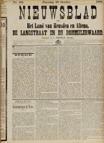 Nieuwsblad het land van Heusden en Altena de Langstraat en de Bommelerwaard 1883-10-20