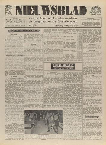 Nieuwsblad het land van Heusden en Altena de Langstraat en de Bommelerwaard 1949-10-10