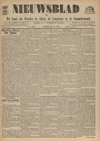 Nieuwsblad het land van Heusden en Altena de Langstraat en de Bommelerwaard 1902-10-18