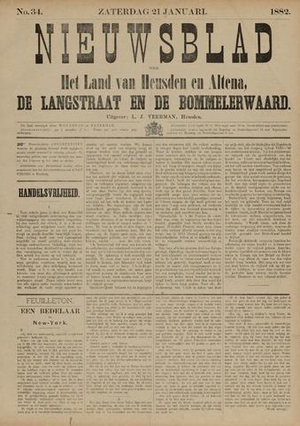 Nieuwsblad het land van Heusden en Altena de Langstraat en de Bommelerwaard 1882-01-21