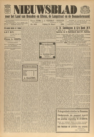 Nieuwsblad het land van Heusden en Altena de Langstraat en de Bommelerwaard 1934-03-30
