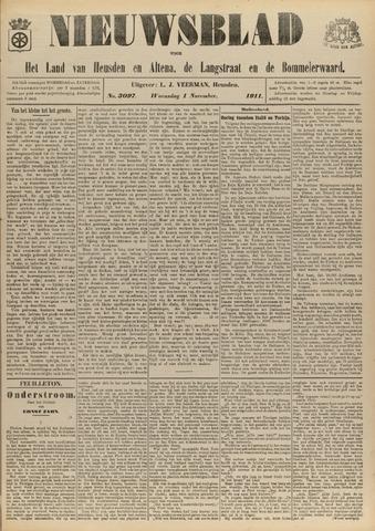 Nieuwsblad het land van Heusden en Altena de Langstraat en de Bommelerwaard 1911-11-01