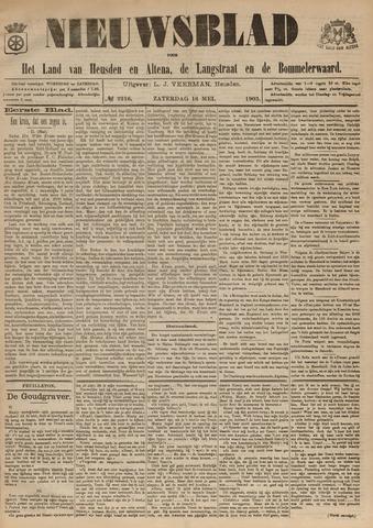 Nieuwsblad het land van Heusden en Altena de Langstraat en de Bommelerwaard 1903-05-16